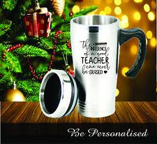 Personalised Teacher School Christmas Travel Mug Thankyou Gift Present Year End