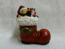 Boyds Bear S.C.'s Boot of Goodies w/ Dreamy McNibble Treasure Box 1E 4034149
