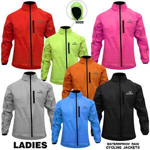 Ladies Cycling Rain Jacket Woman Hi-Visibility Waterproof Running Top Coat