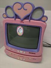 "Disney Princess 13"" Tv Dt1350-P Plus Dvd Vcr Combo Player Pink Works"