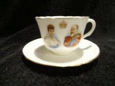 Lovely Royal Doulton Cup & Saucer Duo For The 1902 Coronation - Edward VII