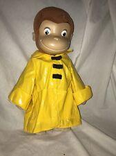 "Curious George Monkey Yellow Rain Jacket Plush Stuffed Doll Toy 17"" 2005 Marvel"