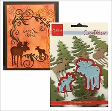 MOOSE die set - Marianne Designs dies 2pc LR0377 Animals,All Occasion