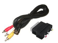 ## SEGA Mega Drive MD 2 Cinchkabel + Scart Adapter - NEUWARE - nicht für MD1 ##