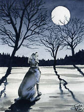 WEIMARANER Art Print Watercolor Dog 11 x 14 Painting Signed by Artist DJR w/COA