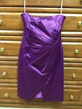 KAREN MILLEN PURPLE PARTY DRESS US 8 UK 12