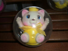 80'S VINTAGE BABY SOFT SOUNDS BALL TOY KITTEN YELLOW