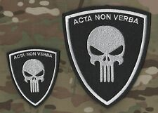 ISAF WAR TROPHY SEAL burdock-hook 2-PATCH SET: ACTA NON VERBA Action not Words
