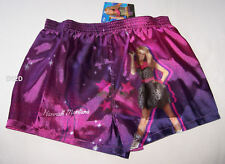 Disney Hannah Montana Girls Purple Boxer Shorts Size 8 - 10 New