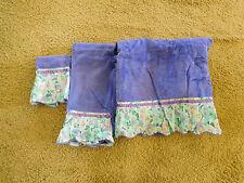 2 Vintage 1973 Avanti Towel Sets ~Purple with Floral Trim ~EXCELLENT~ Free Ship~