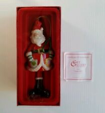 Fitz & Floyd Gift Gallery Santa Claus Bell Christmas Ornament 94/1303 Coa in Box