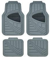 Sumex Universal 4pcs Heavy Duty Durable Easy Clean Rubber Car Floor Mats - Grey