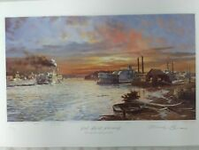 "Michael Blaser Limited Edition Print...""RED SKY AT MORNING "" 1989"