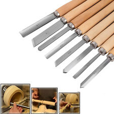 8pcs Craftsman Wood Lathe Chisel Set Turning Tools Gouge Woodworking Set