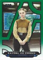 2018 Topps Star Wars Galactic Files Green TFA-44 Kaydel Ko Connix 095/199