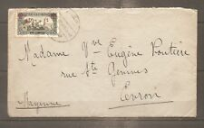 LETTRE SYRIE ALEP FRENCH OFFICE TO FRANCE N°190 OBLITERE USED 1929