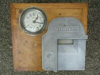 Vintage National Time Recorder Time Clock ~ Working With Key