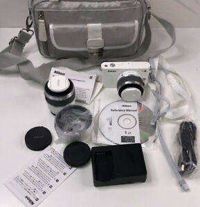Nikon 1 J1 Digital Camera KIT System with 30-110mm Lens (White) Clean & Working