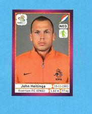 PANINI-EURO 2012-Figurina n.173- HEITINGA - OLANDA -NEW-DARK BOARD