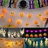 Halloween Pumpkin Ghost Bats Shape String LED Lights Party Home Spoof Decoration