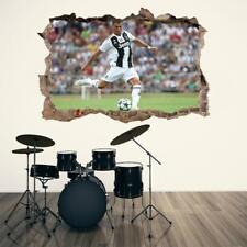 Cristiano Ronaldo Juventus 3D Smashed Wall Sticker Decor Art Mural Juve J1329