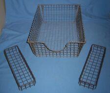 Lot 3 VTG Metal Mesh Wire Letter + Tray Storage Display File Fruit Baskets!