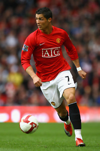 Manchester United Ronaldo CR7 Poster (24x36) inches