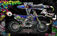 "1998-2009 YAMAHA YZF250 YZF450 ""RUCKUS"" NUMBER PLATE AND FENDER WRAP DECAL KIT"