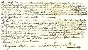 1795 Early Am Doc>JOSEPH GILBERT 2nd EASTON STEALING CARRYING AWAY SUNDRY PAPERS