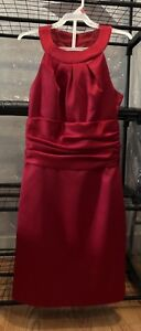 DAVIDS BRIDAL Women's Apple Red  Sleeveless Dress Style F14259 Size 2