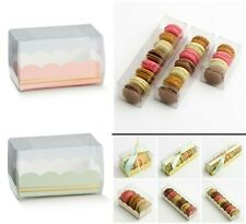 Macaron / Macaroon Boxes Clear PVC - Plain or with Inserts Favour Gift Box