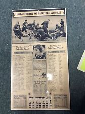 1939-40 MWC football and basketball schedule calendar, never used, new old stock