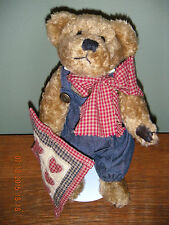 """Boyds Bears Chenille 1996 ~10"""" Delbert Quignapple~ The Quilt Patch Bears #91003"""
