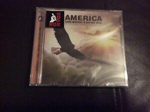 AMERICA  LIVE WHISKY A-GO-GO 1972 CD ALBUM NEW AND SEALED. G1