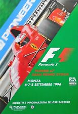 FERRARI f1 MONZA Italian Grand Prix 1996 SCHUMACHER ORIGINALE Poster 96cm x 66cm