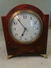 Antique Red Chinoiserie Mantel clock,
