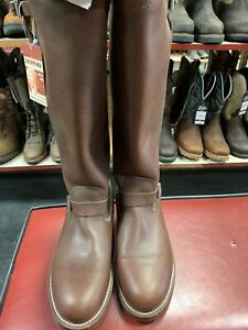 Men's Chippewa 10 E Motorcycle Brown Leather Tall 17 Inch Biker Gay Uniforms