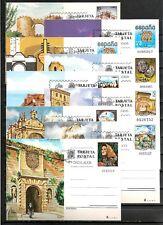 ESPAÑA  11 TARJETAS ENTEROS POSTALES MATASELLOS DE 1º DIA ENTRE Nº 116 Y 133
