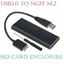 More details for m.2 ngff ssd sata to usb 3.0 external enclosure storage case adapter aluminium