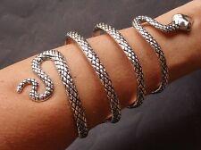 Vintage Bracelet Huge Coiled Snake Cuff