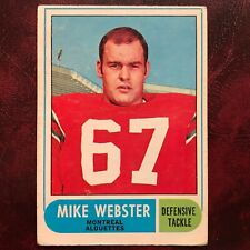 1968 O-Pee-Chee OPC CFL Test Set MIKE WEBSTER #3 MONTREAL ALOUETTES - VG/VG-EX