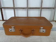 R0897 Alter Reisekoffer um 1940 ~ Vintage ~ Oldtimer Koffer ~ Leder