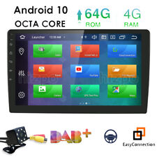 """9"""" Android 10 1Din Car Stereo 8Core RAM:4GB Radio GPS DAB+Wifi 4G Video+HD Cam"""