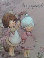 Vtg Hallmark CHARMERS Very Special GIRLS Embossed BIRTHDAY GREETING CARD