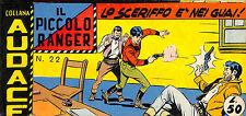 [406] IL PICCOLO RANGER ed. Araldo 1963 V s. n.  22 stato Ottimo
