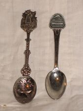 2 Vintage Collectible spoons San Francisco - F Wharf - Cable Car