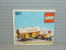 LEGO® Classic Town Bauanleitung 671 Shell Fuel Pumper instruction B5456