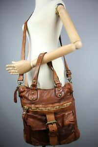 Campomaggi Brown Crossbody / Hand Bag Brown leather  Size Large