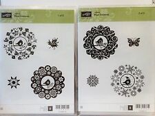 Stampin Up FOUR SEASONS stamps NEW Christmas fall doily bird medallion