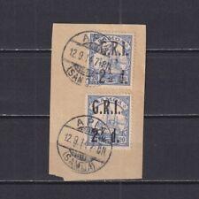SAMOA, British Occupation 1914, Mi# 4, pair, CV €40, Overprint, Ship, Used